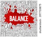 balance word cloud background ... | Shutterstock .eps vector #397733875