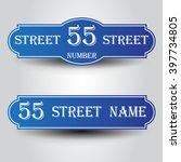 blue vintage styled house...   Shutterstock .eps vector #397734805