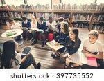 classmate educate friend... | Shutterstock . vector #397735552