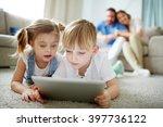 networking on the floor | Shutterstock . vector #397736122