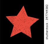 red star. hand drawn vector. ... | Shutterstock .eps vector #397749382
