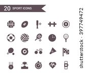 sport icon set vector.... | Shutterstock .eps vector #397749472