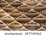 number of empty hangers in the... | Shutterstock . vector #397749562