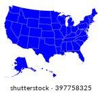map of usa | Shutterstock .eps vector #397758325