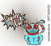 vector illustration in pop art... | Shutterstock .eps vector #397765432