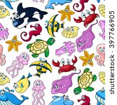 seamless pattern with... | Shutterstock .eps vector #397766905