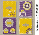 vector set of greeting cards | Shutterstock .eps vector #397767592