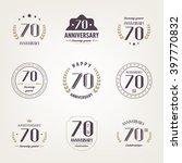 seventy years anniversary...   Shutterstock .eps vector #397770832