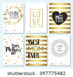 set of greeting cards and happy ... | Shutterstock .eps vector #397775482