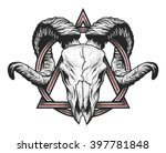 ram skull with a geometric... | Shutterstock .eps vector #397781848