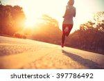 young fitness woman runner... | Shutterstock . vector #397786492