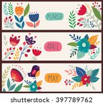 beautiful vector collection... | Shutterstock .eps vector #397789762