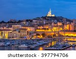 marseille  france at night. the ...   Shutterstock . vector #397794706