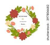 vector flowers set. floral... | Shutterstock .eps vector #397806682