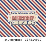 Retro Barber Shop Vintage...