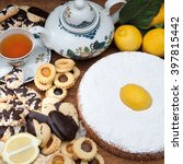 homemade sweet pastries and... | Shutterstock . vector #397815442