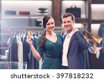 young couple with credit card... | Shutterstock . vector #397818232