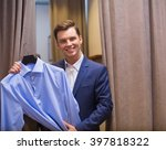smiling man with shirt indoors | Shutterstock . vector #397818322