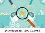 head think process brainstorming | Shutterstock .eps vector #397832956