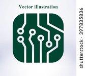 circuit board  icon.