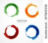 circle set. vector illustration.... | Shutterstock .eps vector #397845358