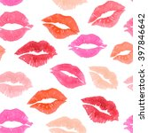 kiss colorful lips valentines... | Shutterstock . vector #397846642