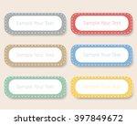 design vintage label notes ...   Shutterstock .eps vector #397849672