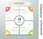 design infographic template 4... | Shutterstock .eps vector #397849825