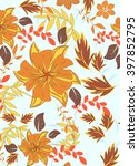 seamless vector floral pattern. ... | Shutterstock .eps vector #397852795