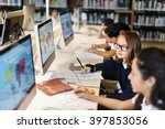 education school student... | Shutterstock . vector #397853056