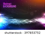 Cosmic Abstract Background Wit...