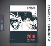 green annual report leaflet...   Shutterstock .eps vector #397859896