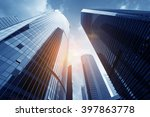 modern building from low angle... | Shutterstock . vector #397863778
