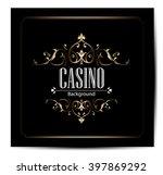 casino vector background   Shutterstock .eps vector #397869292