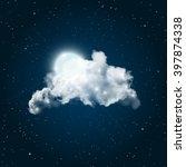 full moon shining through big... | Shutterstock .eps vector #397874338
