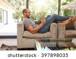 side view image of a happy... | Shutterstock . vector #397898035