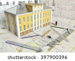 3d Rendering House Layout And...