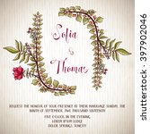 wedding invitation card with... | Shutterstock .eps vector #397902046