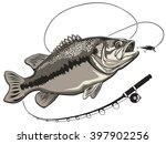 bass fish. perch fishing vector ... | Shutterstock .eps vector #397902256