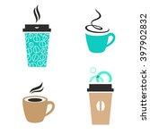 trendy vector coffee signs.... | Shutterstock .eps vector #397902832