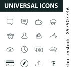 set of universal icons. general ... | Shutterstock .eps vector #397907746