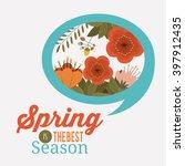 hello spring design  | Shutterstock .eps vector #397912435