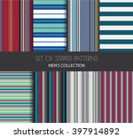 set of striped vector seamless... | Shutterstock .eps vector #397914892