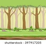 vector illustration forest... | Shutterstock .eps vector #397917205