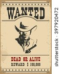 wanted poster.western vintage... | Shutterstock .eps vector #397920472