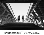 two man on pedestrian solferino ... | Shutterstock . vector #397923262