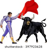 Illustration Of A Bull And A...