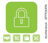 padlock line icon  vector...   Shutterstock .eps vector #397926496