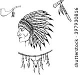 man in the native american...   Shutterstock .eps vector #397930816