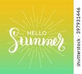 Hello Summer Vector...